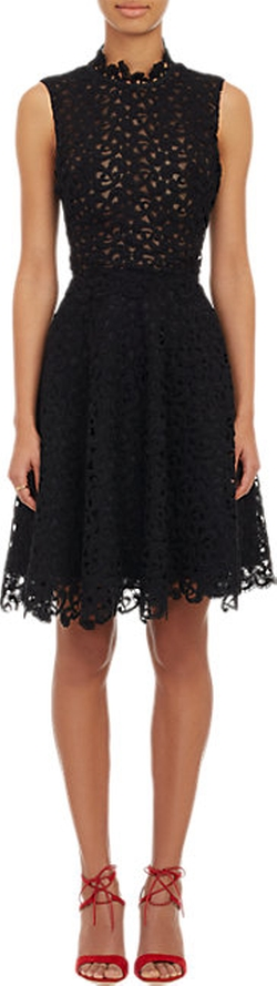 Sophia Kah  - Guipure Lace & Organza Dress