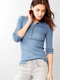 Gap - Ribbed Henley Sweater