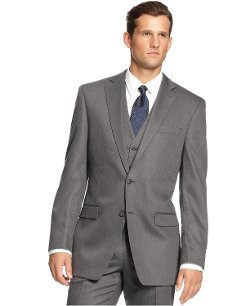 Calvin Klein - Charcoal Solid Two Button Sport Coat