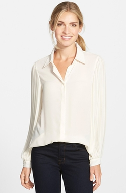 Vince Camuto - Pleat Sleeve Blouse
