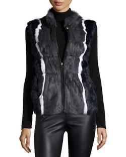 Jocelyn   - Reversible Rabbit-Fur Vest