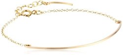 By Boe - Gold-Filled Curved Wire Link Bracelet