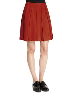 Theory  - Tillberti Winslow Pleated Crepe Skirt