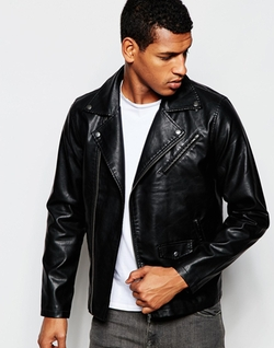 Produkt  - Classic Faux Leather Biker Jacket
