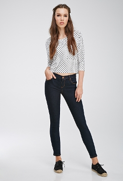 Forever 21 - Mid-Rise Skinny Jeans