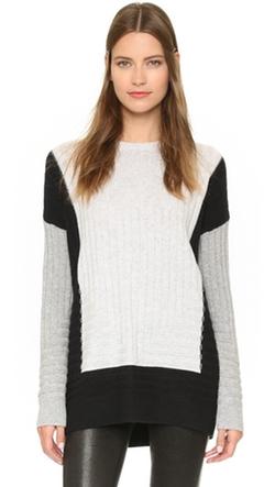 Vince - Colorblock Intarsia Crew Sweater