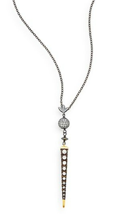 Azaara - Pavé Spike Drop Pendant Necklace