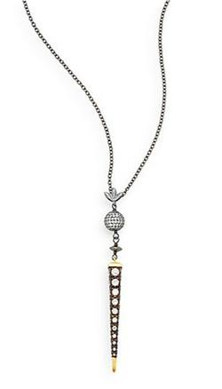 Azaara - Pavé Spike Drop Pendant Necklace