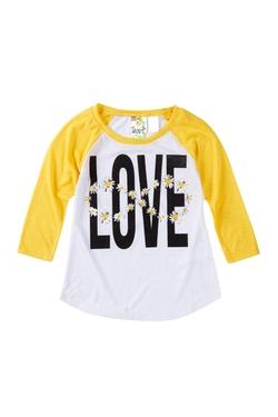 Soo Kyut - Love Screen Print Raglan Sleeve Shirt