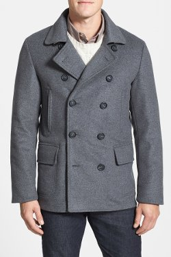 Faconnable - Classic Fit Wool Blend Peacoat