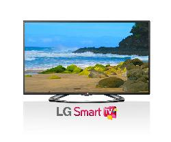 LG  - Electronics  55LA6200 55-Inch Cinema 3D 1080p 120Hz LED-LCD HDTV with Smart TV and Four Pairs of 3D Glasses (2013 Model)
