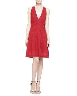 M Missoni   - V-Neck Fit & Flare Dress