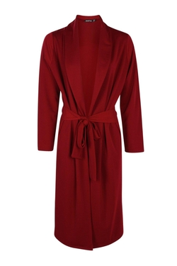 Boohoo - Ella Cross Back Belted Heavy Weight Duster Coat