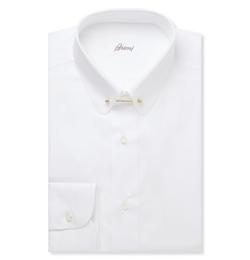 Brioni   - White Cotton Shirt