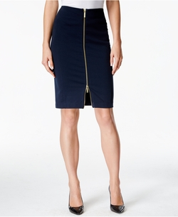 Michael Kors - Zip-Front Ponte Pencil Skirt
