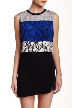 Elizabeth And James - Nathena Silk Crop Top