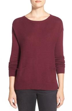 Halogen - Drop Shoulder Pocket Sweater