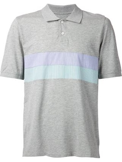 Band of Outsiders - Striped Panel Polo Shirt