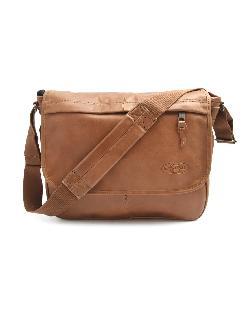 EASTPAK  - Delegate Camel Leather Messenger Bag