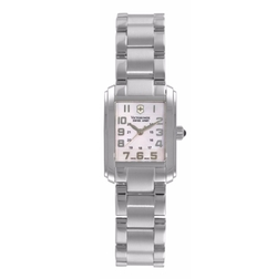 Victorinox Swiss - Square Mother-Of-Pearl Pink Dial Watch