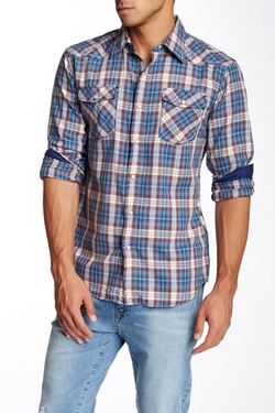 Indigo Star - Plaid Long Sleeve Regular Fit Shirt
