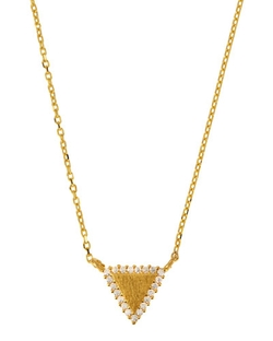 Tai  - Gold-Plated Pave Pendant Necklace