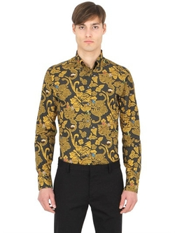 Eton   - Slim Printed Cotton Button Down Shirt