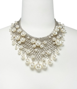 Kenneth Jay Lane -  Pearl Drops Bib Necklace