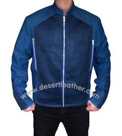 Desert Leather - Captain America Steve Rogers Blue Cotton Jacket