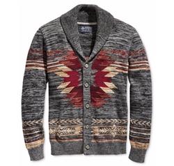 American Rag - Southwest Shawl-Collar Cardigan