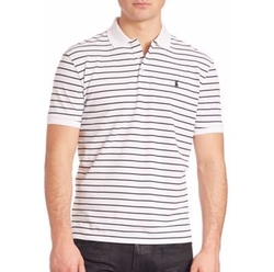 Polo Ralph Lauren - Striped Stretch-Mesh Polo Shirt