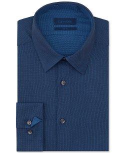 Calvin Klein  - Slim-Fit Twill Solid Dress Shirt