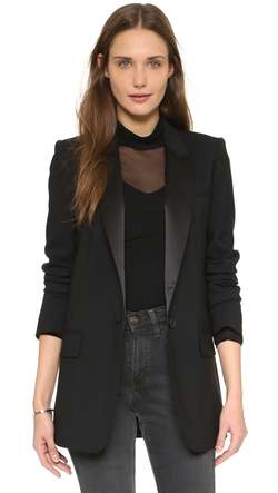 DKNY  - Jacket with Satin Peaked Lapels