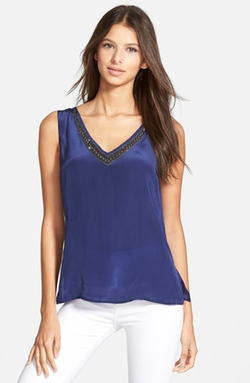 Plenty By Tracy Reese - Embellished V-Neck Tank Top