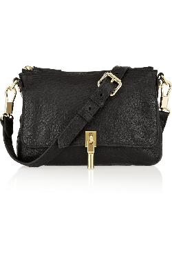 ELIZABETH AND JAMES  - Cynnie Micro textured-leather shoulder bag