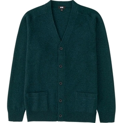 Uniqlo - Lambswool V-Neck Cardigan