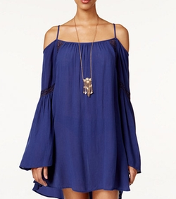 American Rag - Cold-Shoulder Shift Dress