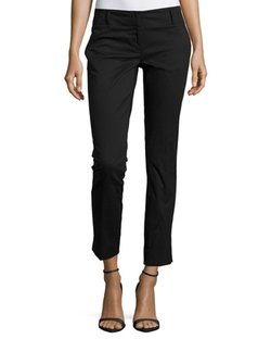 Laundry by Shelli Segal  - Slim-Fit Cotton-Blend Ankle Pants