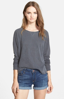 Stateside - Split Back Long Sleeve Tee Shirt
