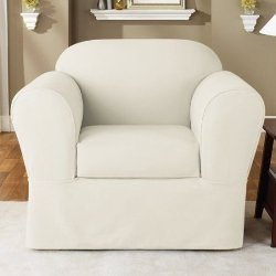 SureFit  - Twill Supreme Chair Slipcover