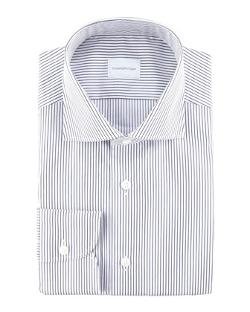 ERMENEGILDO ZEGNA  - Pencil Striped Dress Shirt
