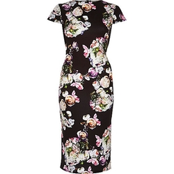 River Island - Floral Print Bodycon Dress