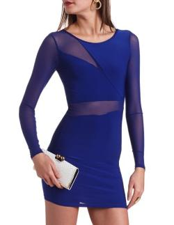 Charlotte Russe - Body-con Mesh Inset Dress