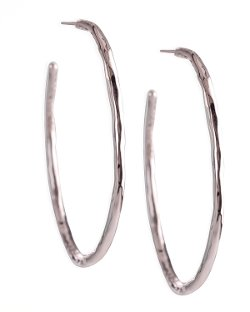 Ippolita   - Small Silver Squiggle Hoop Earrings