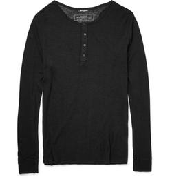 Balmain   - Wool Henley T-Shirt