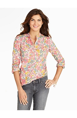 Talbots - Floral Medley Popover Top