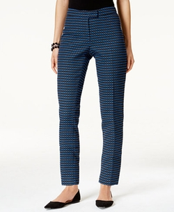 Anne Klein - Textured Ankle Pants