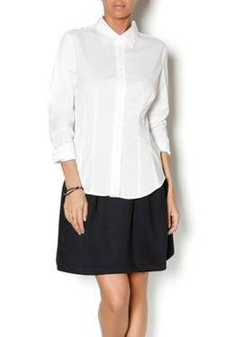 RD Style - White Button Down Blouse