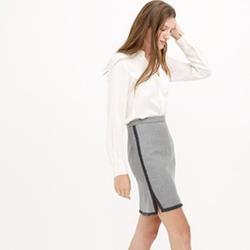 J.Crew - Double-Notch Contrast Mini Skirt