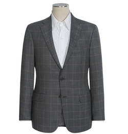 Hickey Freeman  - Houndstooth with Windowpane Overlay Sport Coat